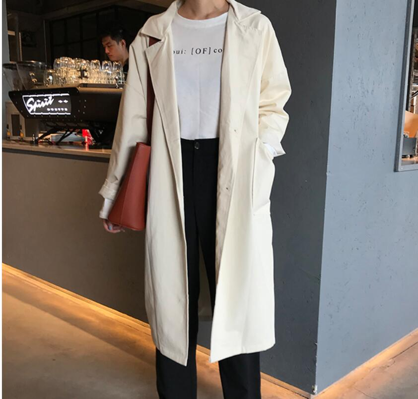 Black and White elegant Women's Bat sleeved   trench   coats Stylish Loose Autumn Outerwear am044
