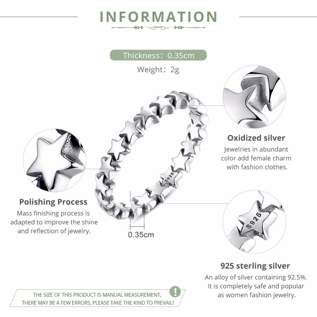 Star Trail Stackable Ring2