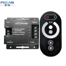 DC12-24V 6A/CH 3Channel Single Color Iron Shell LED Controller RF Full Touch Remote Controller For Single Color LED Strip Light