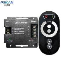 DC12-24V 6A/CH 3 Canales de Corteza de Hierro de Un Solo Color LED RF Controlador Táctil Controlador Remoto De Un Solo Color Luz de Tira del LED