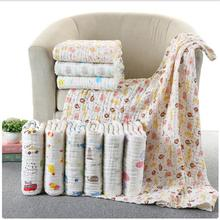 85*85 6 layers multi-use Muslin 100% cotton gauze Soft Newborn Baby Bath Towel Swaddle Blankets Multi Designs Baby Wrap