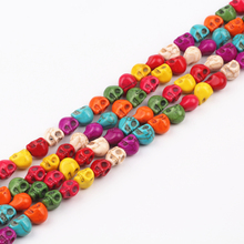 8mm Colorful Skull Howlite Beads Loose Stone Beads 200 Pcs/Lot Charms Spacer Bead Handcrafts DIY Jewelry Making