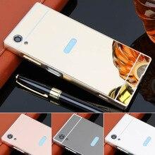 For Sony Xperia XA1 plus 5.5 case Aluminum Bumper Plating Mirror Back Cover for Sony Xperia XA1 plus G3412 G3421 G3423 G3416