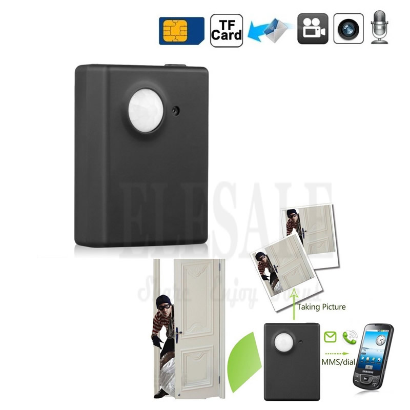New Mini Wireless Gsm PIR Alarm System Infrared Motion Detection Anti Theft Alarm Built in Camera