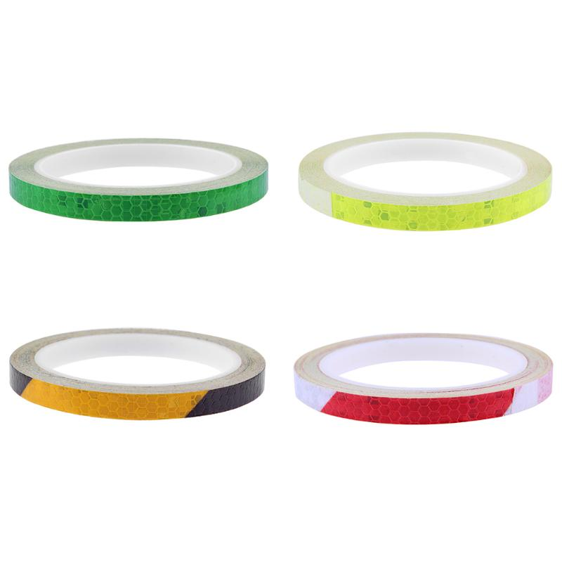 8M Fluorescent Cycling Wheel Bicycle Reflector Fluorescent Bike Sticker Tape Rim Reflective Stickers Safe Decal Accessories