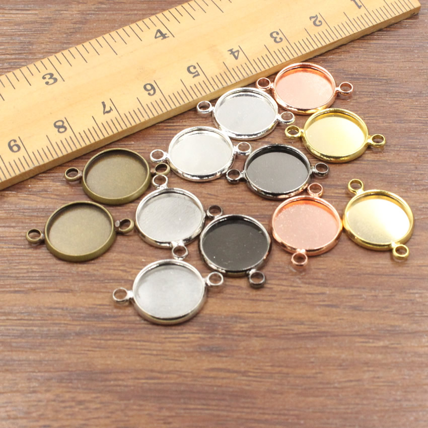 1pc Headband Silver Tone Round Cabochon Settings Fits 12mm 5pcs Glass Domes