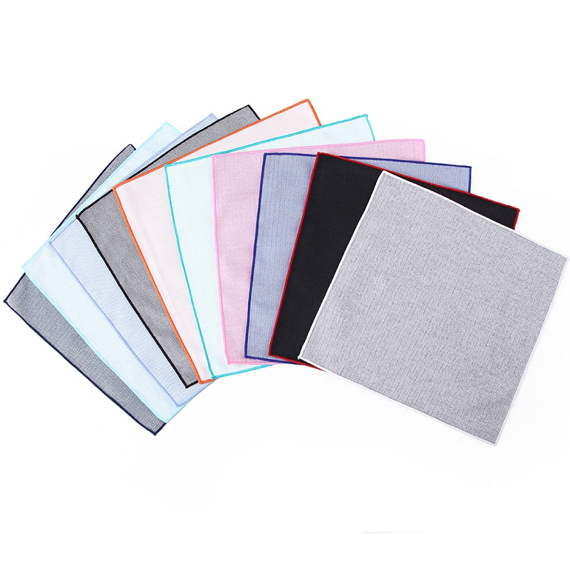 Men Handkerchief Solid Color Hankies For Wedding Party Business Groom Suit Pocket Polyester Square Handkerchief Chest Hanky