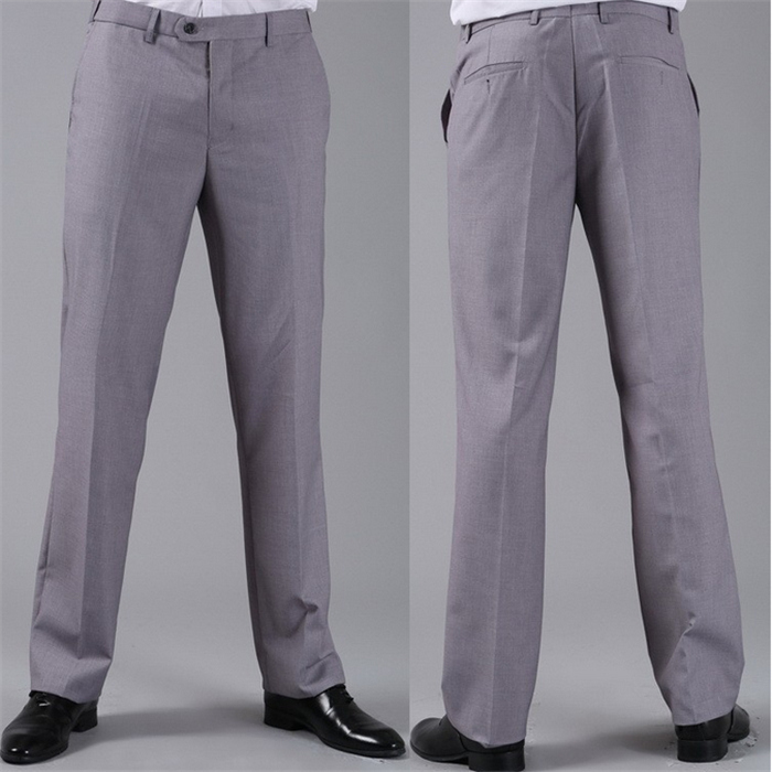 Мужские костюмные брюки модные свадебные формальные 12 цветов повседневные брюки известный бренд блейзер брюки Деловое платье брюки CBJ-H0284 - Цвет: standard light grey