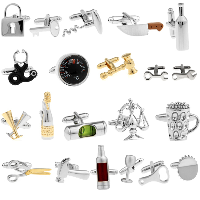 Free shipping gold plating Novelty Cufflinks champagne and wine glass design men cuff links wholesale&retail free shipping 8 designs fashion motorcycle cufflinks novelty sport bike design quality brass material men cuff links