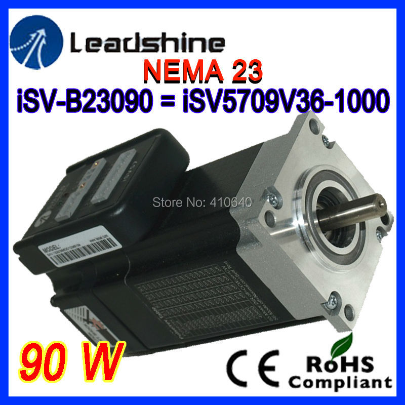Leadshine NEMA 23 90W integrated servo motor iSV-B23090 (equal to Leadshine iSV5709V36) integrate with 1000 line encoder + drive servo motor hf sp152b 90