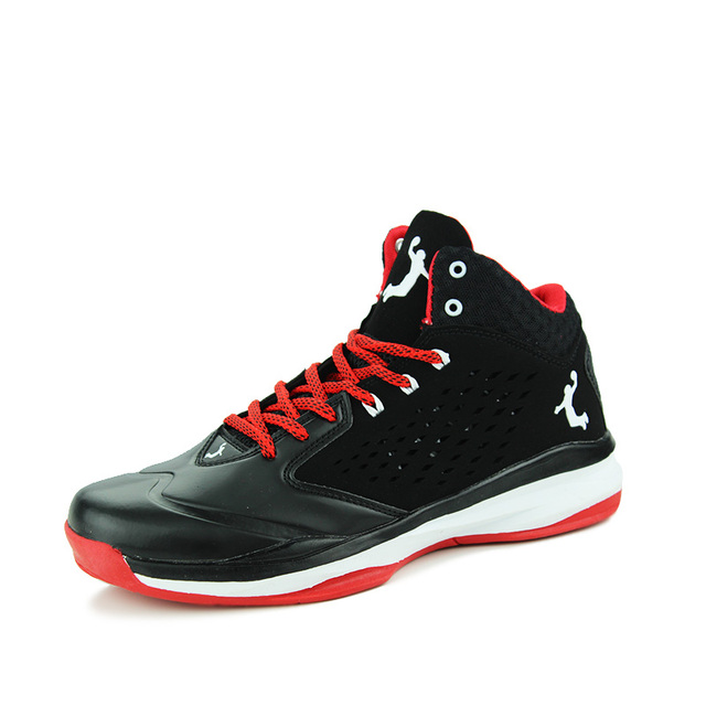 Chaussures De Basket Running-Top Basket Homme Chaussures de BasketBall Chaussures de sport - Noir-rouge R0QIyF