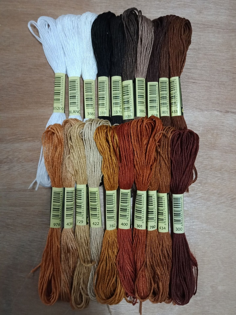 DMC 8 metre cotton cross stitch thread DMC 300 Very Dark Mahogany Quantity 1
