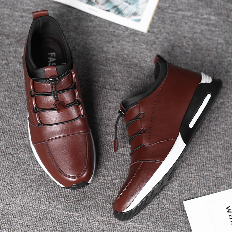 En brown 2019 Chaussure Souple Blue À forme Oxford Zapatos Lacets Plate Chaussures Cuir Hommes Sneakers Homme Casual black New Wedge HxqrHz