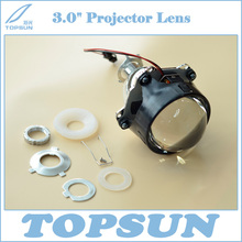 Free Shipping 3 Inch WST Bixenon Projector Lens with TC H1 35W HID lamp, Ballast and Shroud for Car Headlight Retrofit