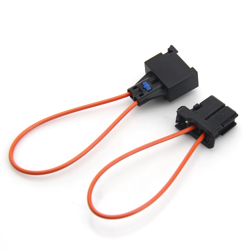 Automotive Fiber Optic Cable : Most fiber male to female connector optic loop bypass auto