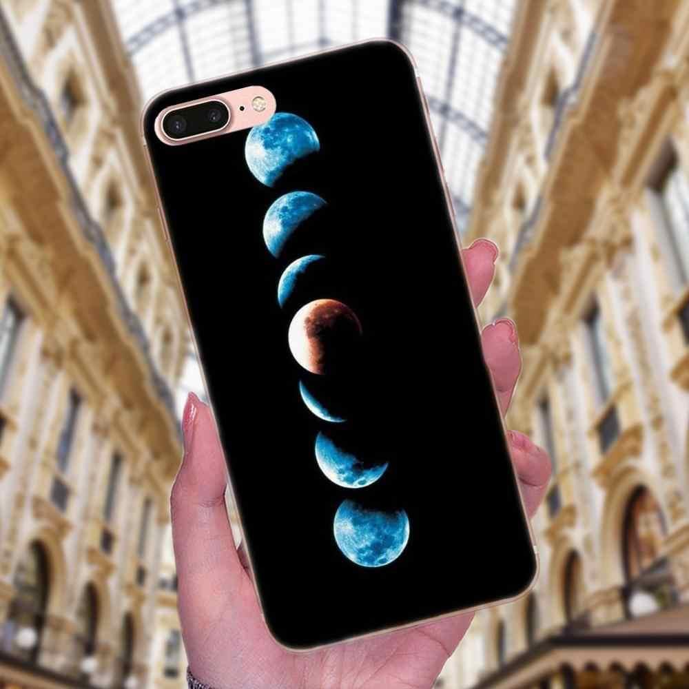 Мягкие ТПУ Капа чехол пространство Doodles принт Луна Звезда для Xiaomi Redmi Note 2 3 S 4 4A 4X5 5A 6 6A Pro плюс