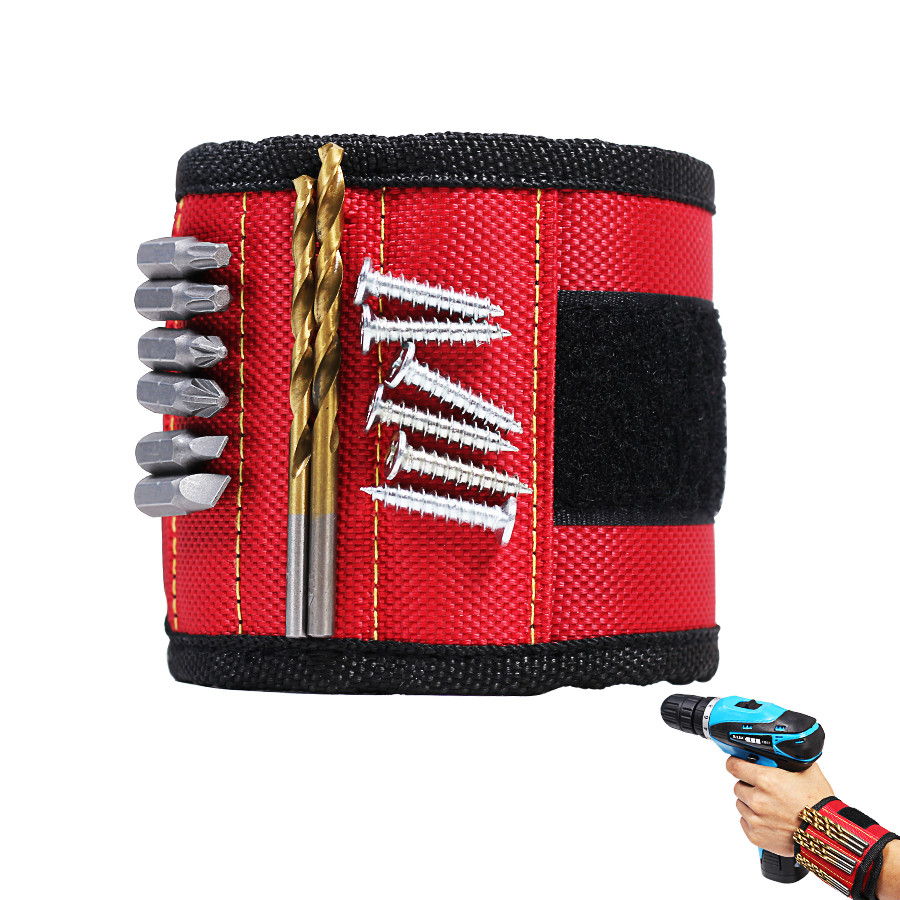Wrist Support Band Tool Belt Bracelet Screw Kit Magnetic Wristband Hand Tools To Be Renowned Both At Home And Abroad For Exquisite Workmanship Include 2pcs/3pcs Magnet Skillful Knitting And Elegant Design 1pcs