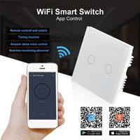 QIACHIP 220V 110V WiFi Smart Swich APP Wireless Remote Control Light Wall Switch Touch Panel Work