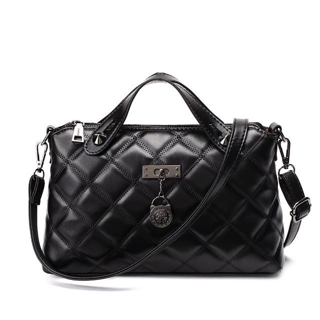 d97bfd81d859 New Luxury Handbags Fashion Women Bag 2018 Brand Designer Plaid Shoulder Bag  Female Crossbody Bags High Capacity Top-Handle Bags