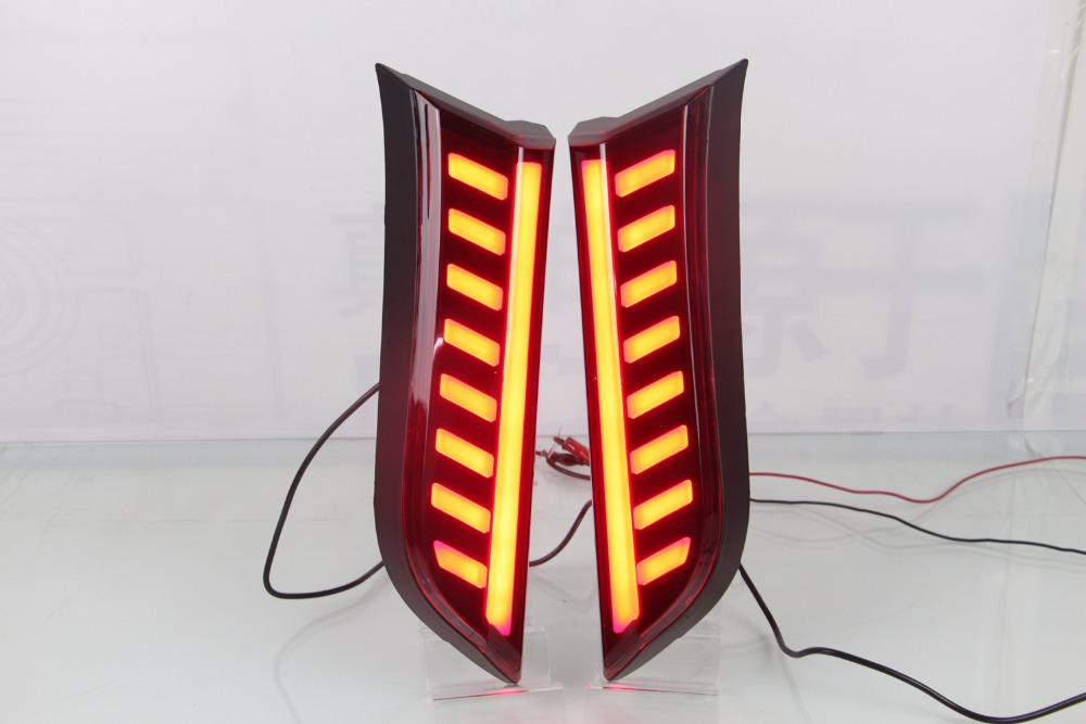 eOsuns светодиодные задние колонки фары дальнего света с фонаря сигнала торможения для джип компас 2017 2018