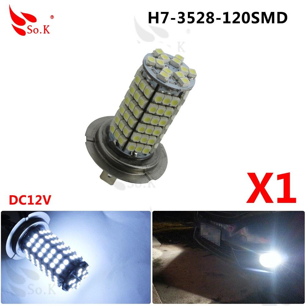 Carro H7 120 LED SMD 3528 Branco Puro de alta Qualidade Auto Fog Driving  Lâmpada de luz Fonte de Luz DC12V f1e1d3dc2be5a