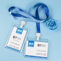 2 PCS/Set Acrylic ID Badge Holder Accessories Transparent Credit Card Bus Card holder Work cards Tag Papelaria Office Supplies