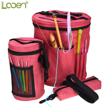 Looen 3 Pcs Empty Yarn Storage Bag Organizer For All Crochet and Kiniting Accessories Women DIY Sewing Kit