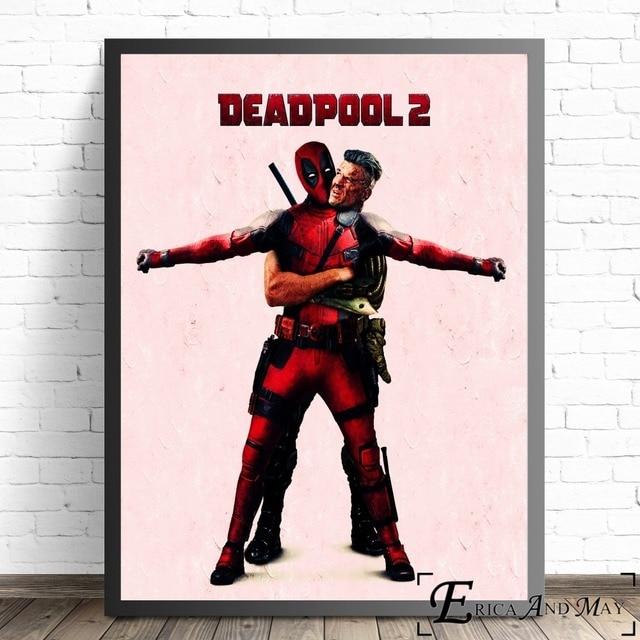 Deadpool-film de super-héros 2 | Imprimés de toile, affiches de peinture modernes, images murales dart, décoration pour salon, sans cadre