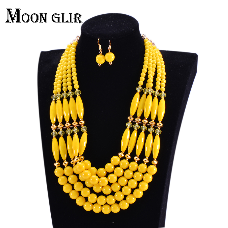 Newest african beads jewelry set 2016 nigerian wedding african ...