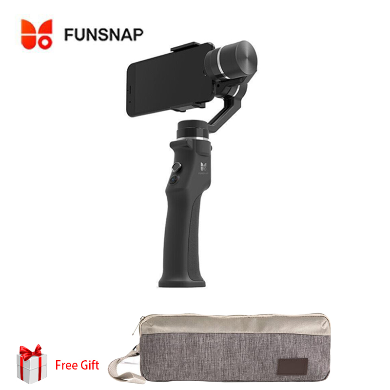 где купить Funsnap Capture 3 Axis Handheld Gimbal Stabilizer For xiaomi iPhone X 8Plus 8 7Plus 7 6S Samsung S9 S8 S7 & Action Camera дешево