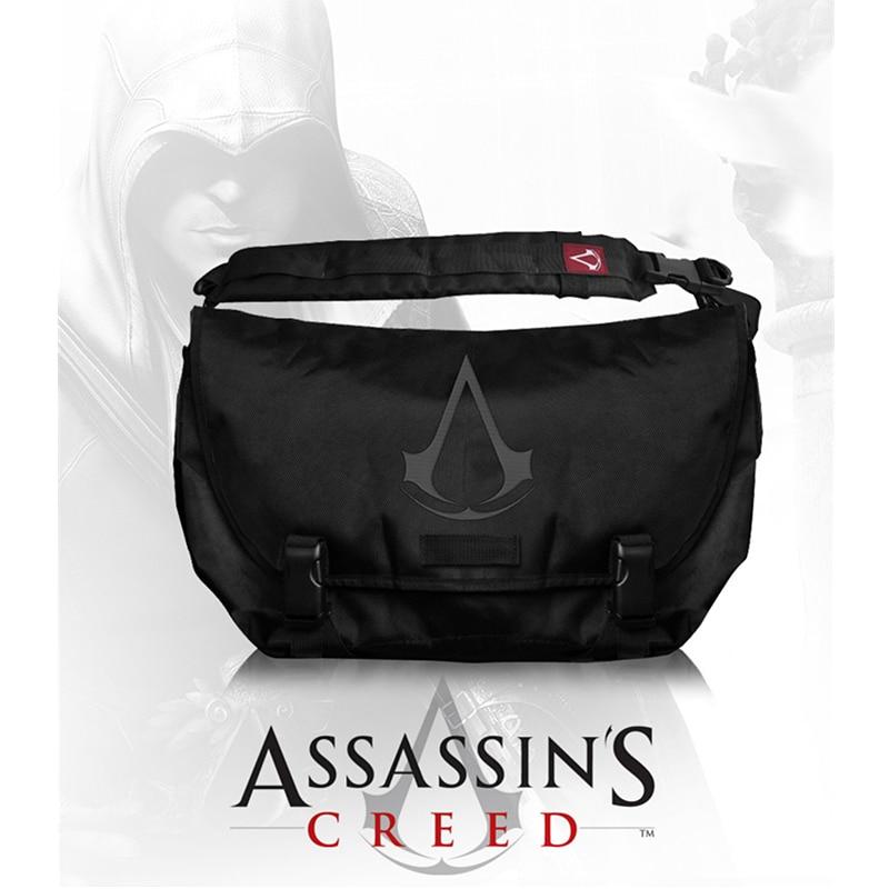 Assassins Creed Messenger Bag School Shoulder Bag Cosplay Assassins Creed Costume Fashion Bag Men assassins creed cosplay backpack men school bags official assassins creed syndicate logo school backpacks bag rucksack