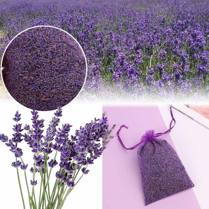 1Bag Pure Natural Dried Flower lavender Grain Bulk Purple Lavender particles Filling Bags Pillow lavender sachets Lavendelbluten