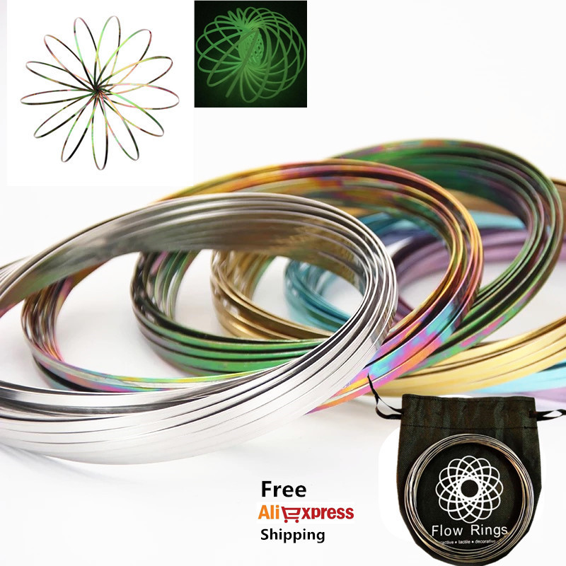 Magic Ring Toroflux Torofluxus Flowtoy Amazing Flow Ring Toys Kinetic Spring Toy Funny Outdoor Game Intelligent Toy Fidget
