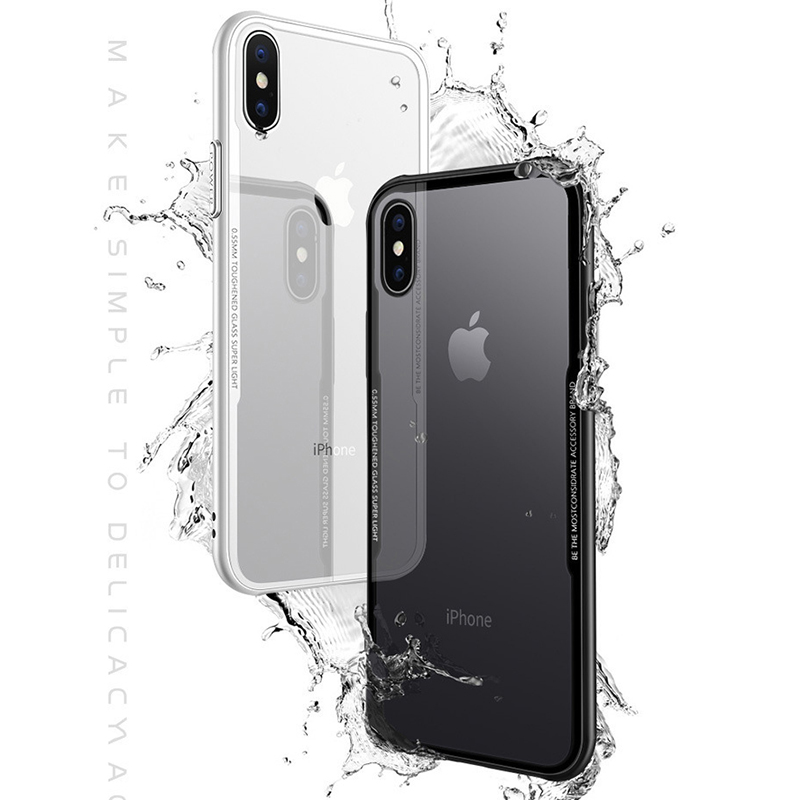 360 Full Cover Shockproof Iphone XS X XR XS MAX Soft TPU Silicone Bumper For Iphone 8 8 Plus 7 6 6S Tempered Glass Case