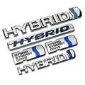 Синий Серебряный Качество ABS Chrome HYBRID Synergy Drive Стайлинга Автомобилей И Установка Герба Знак 3D Наклейки Магистральные Логотип для Toyota Carmy