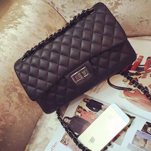 2016 Fashion Quilted bag Purse Quality Bag Women PU Leather Handbag messenger Classical Flap Shoulder Bags With Chain Women Bags