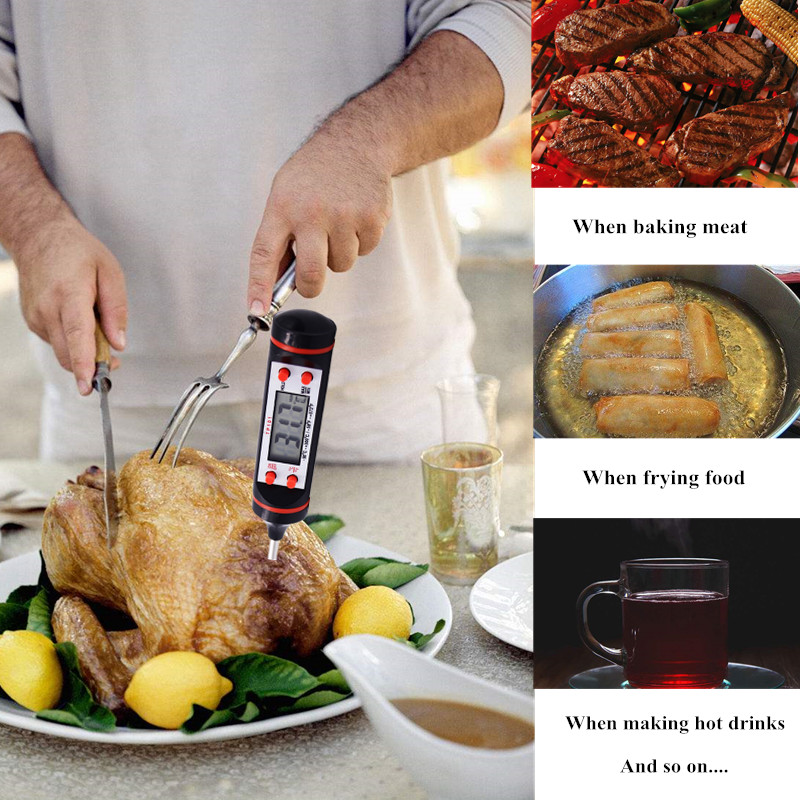 Mini Digitális Főzés Hőmérő Érzékelő Szonda BBQ Hot Dirnk - Mérőműszerek - Fénykép 6