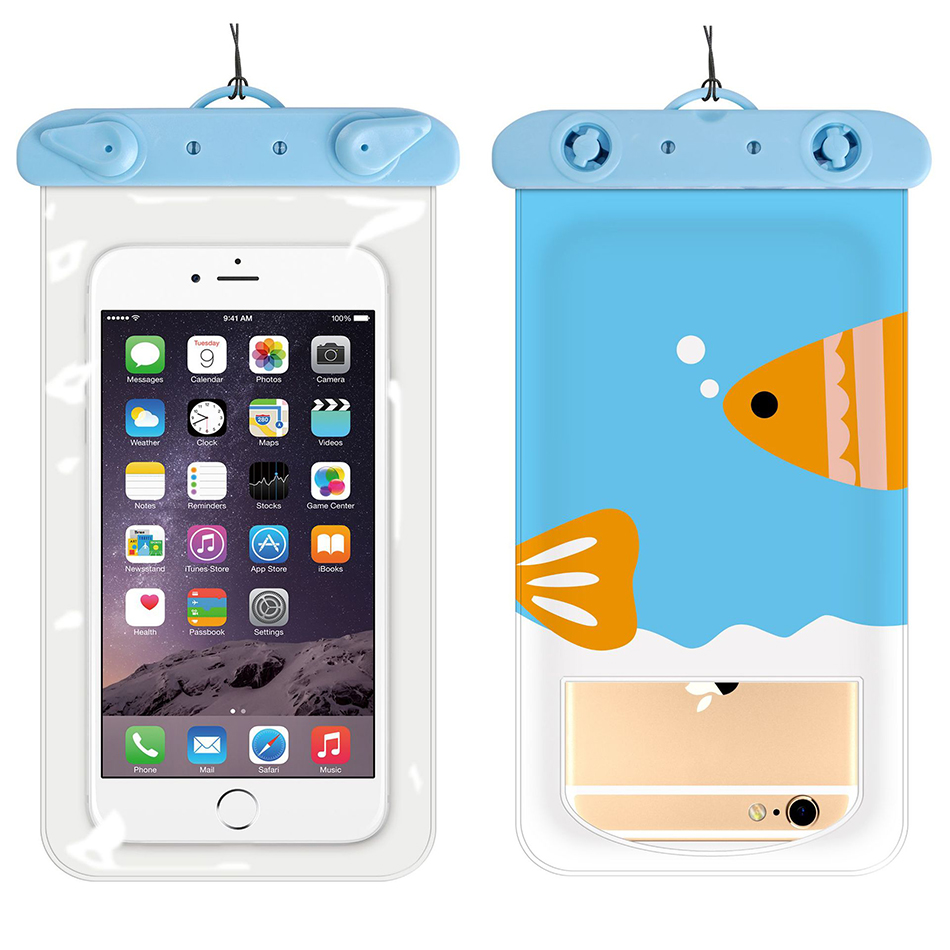 !ACCEZZ PVC Waterproof Phone Case Bag 6 inch For iPhone XR Xiaomi Huawei Samsung Swimming Outdoor Mobile Phone Pouch Cover Case (9)