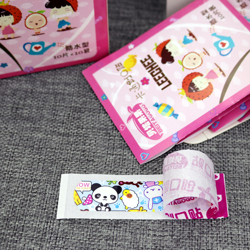 Image 4 - 100PCs Waterproof Breathable Cute Cartoon Band Aid Hemostasis Adhesive Bandages First Aid Emergency Kit For Kids Children-in Emergency Kits from Security & Protection