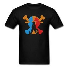 Pirate King Tees XL Men T-shirt Luffy Skull Logo Art Design T Shirt One Piece Anime Tops Hip Hop Pocket Cartoon Clothes Discount цена и фото