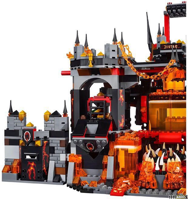 Image 4 - Compatible with Legoing 70323 Nexion knights  1237Pcs Jestro Volcano Lair Figure building blocks bricks toys for children-in Blocks from Toys & Hobbies