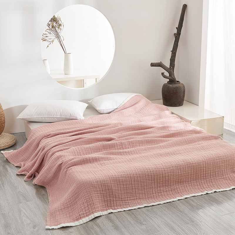 Detail Feedback Questions about Cotton Gauze Thin Summer Blankets Plain  Light Purple Pink Blue Brown Coverlet 140 200 190 230cm for Full Queen Bed  or Sofa ... 86cbab311