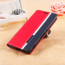 TOP Quality Stand for lenovo vibe p1 Flip Leather case for lenovo vibe p1 Case Mobile Phone Cover Mix Color with Phone Holder
