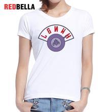 Redbella 2017 New Arrival Women Hipster Cool Tees Hot Usa Cartoon Funny Circular Pattern Humorous Poleras De Mujer Moda Clothing