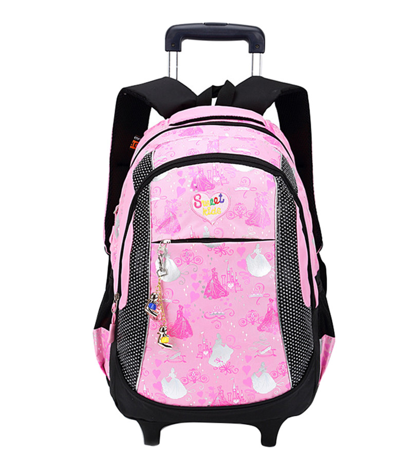 Children Trolley School Bags Rolling Mochilas Escolar Kids Wheeled Printing Backpack Girls Bagpack Back Pack bag on Wheels hot sale 10 style winx club backpack girls mochila escolar children school bag customized mochilas mujer kids free shipping b002