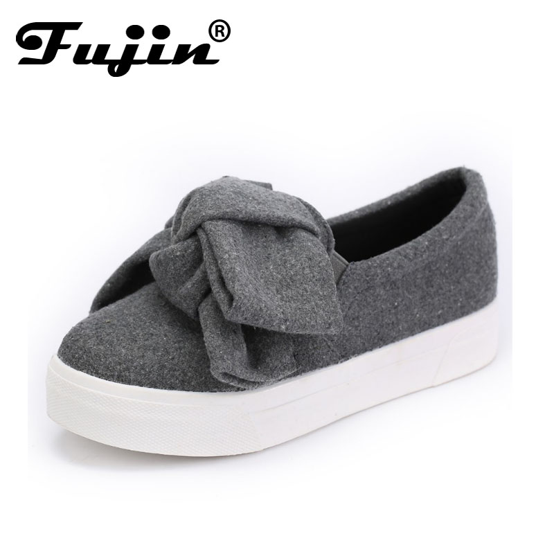 Fujin 3cm black grey women spring boots winter Fashion Women Flats Bow Woman Platform Shoes Slip On Espadrilles Shoes Creepers fujin 3cm black grey women spring boots winter fashion women flats bow woman platform shoes slip on espadrilles shoes creepers