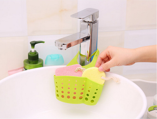 4 colors 1 pc hot 2016 hanging drain bag basket bath storage gadget tools kitchen sink - Kitchen Sink Tools