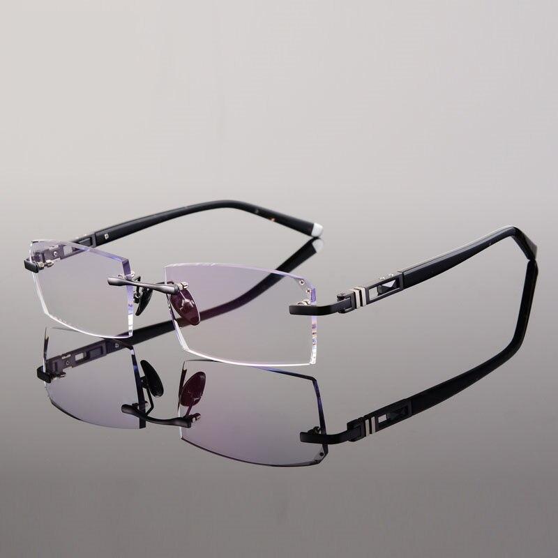 frameless eyeglass frames gold eyeglass frames for men rimless ...