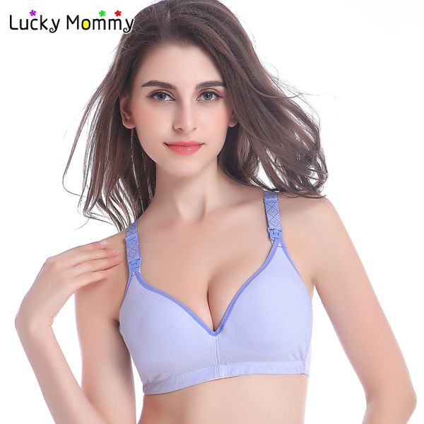 c2eaefaae 10 Colors Cotton Wireless Maternity Bra for Nursing Mothers Breastfeeding  Bra Underwear for Pregnant Women Nursing Bra Clothing-in Maternity   Nursing  Bras ...