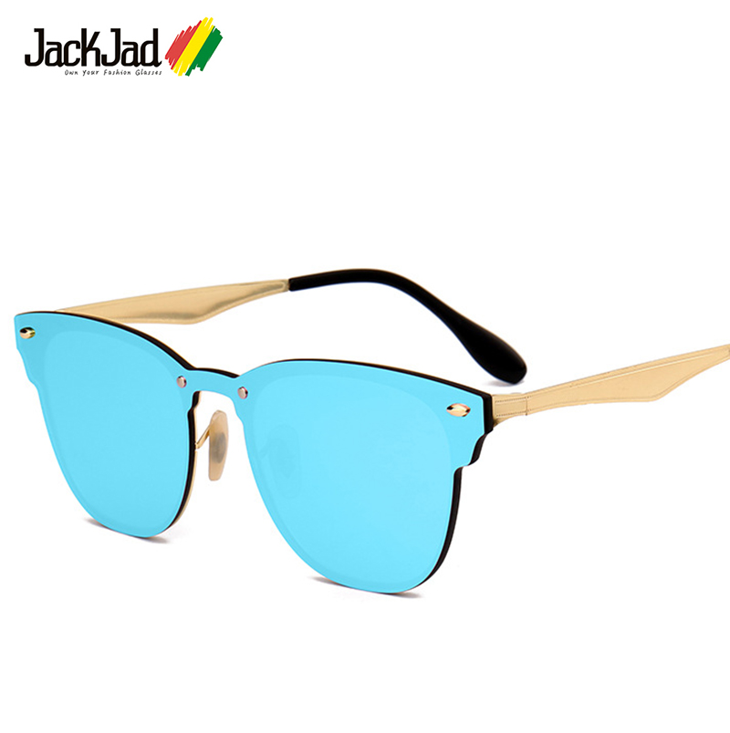 JackJad 2017 New Fashion 3576 Traveller Style Rivets Sunglasses Men Women Brand Design Quality Metal Sun Glasses Oculos De Sol